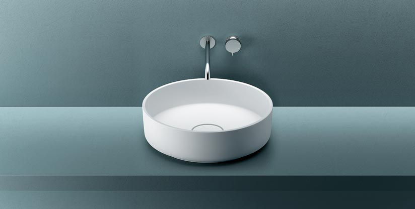 Lavabo ovale tondo o quadrato in corian triade evolution for Lavabi d arredo
