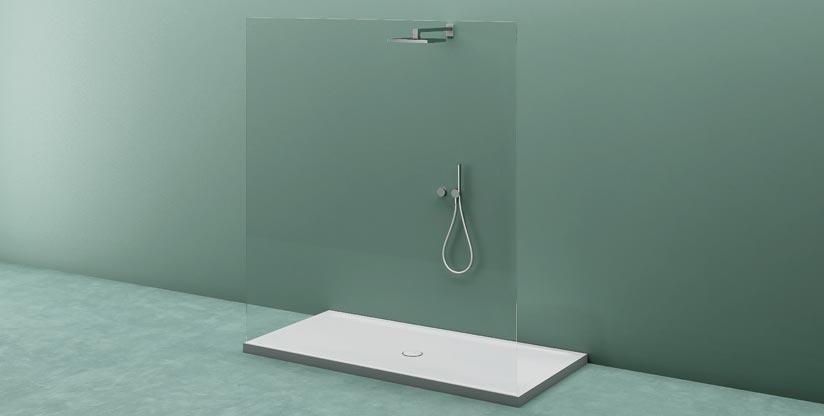 Piatto doccia in corian piatto doccia semicircolare unico - Piatto doccia triangolare ...