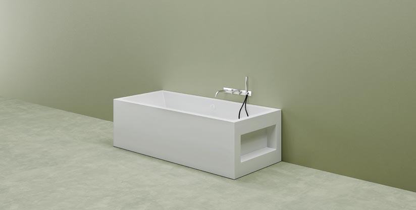 Vasca da bagno su misura vasca in corian aquarius - Prodotti per pulire vasca da bagno ...