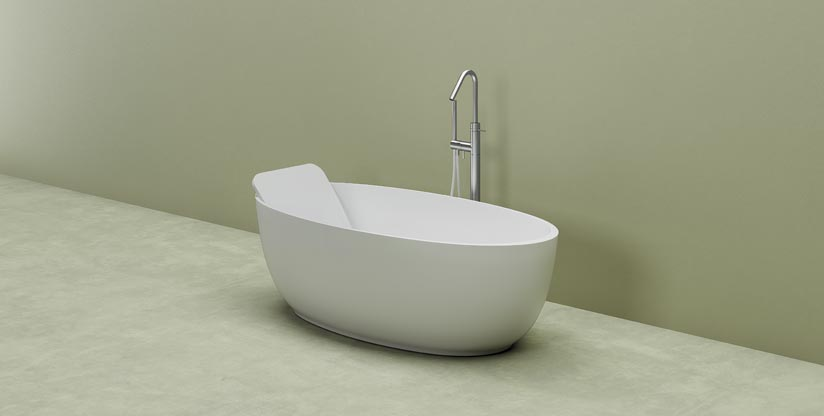 Vasca Da Bagno Piccola : Vasca da bagno piccola di forma ovale planit