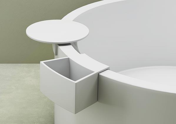Vasca da bagno rotonda in Corian, Vasca circolare | Marina